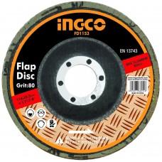 Диск шлифовальный лепестковый 115 мм INGCO FD1153