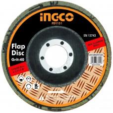 Диск шлифовальный лепестковый 115 мм INGCO FD1151