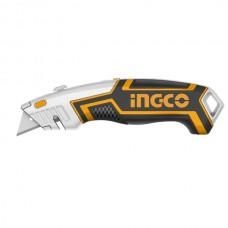 Нож универсальный с выдвижным лезвием SK5 INGCO HUK618