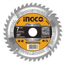Пильный диск по дереву 185 мм INGCO TSB118515