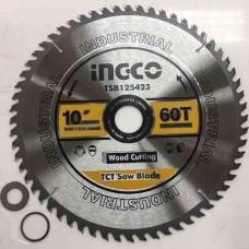 Пильный диск по дереву 254 мм INGCO TSB125423